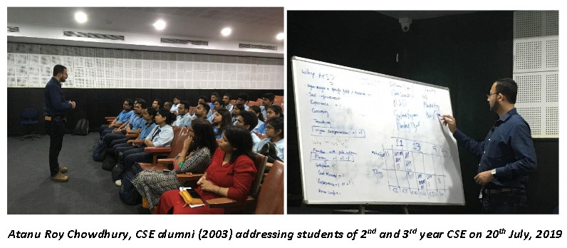 Alumni interaction session on 20th July, 2019